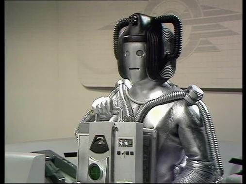 Image result for revenge of the cybermen cyber leader